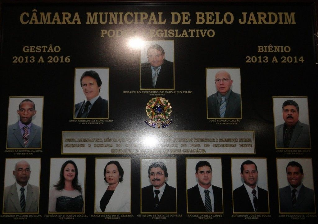 Câmara de vereadores de Belo jardim 2013