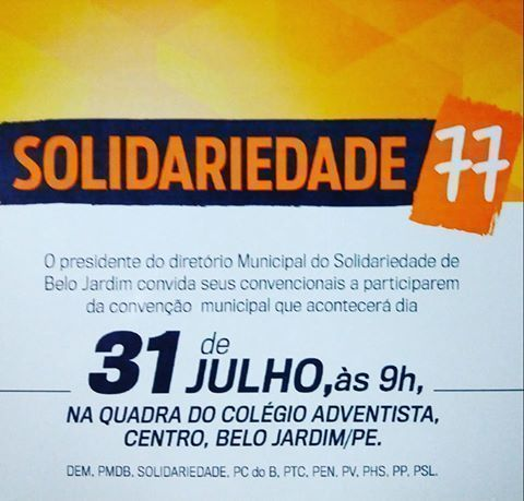 convite solidariedade